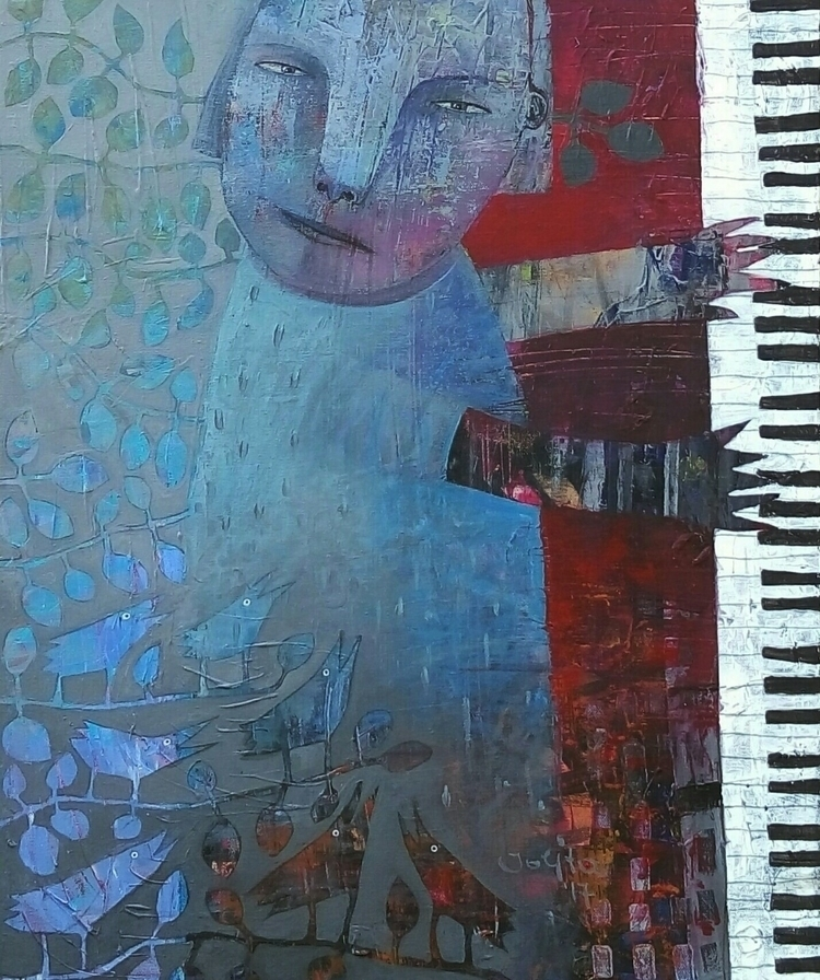 singing lessons acrylic canvas  - jolitacc | ello