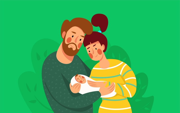 Family ^  - character#design#art#illustration#family#woman#man#baby#plants#draw#paint#green#yellow#ornament#face#love#face#smile - anihar | ello