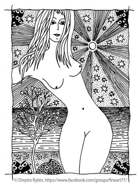 girl sea 2 - Nude, woman, Gelpen - dmytroua | ello
