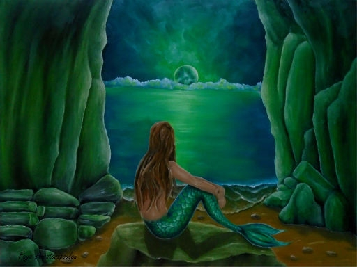 mermaid, fantasy, nightscape - fayeanastasopoulou | ello