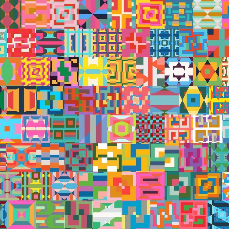 Procedural patterns. Generated  - yuyatakeda   ello