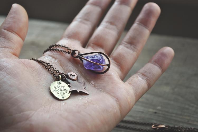 Set minimalist copper necklaces - twistedjewelry | ello