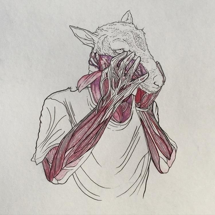 BORN2SUFFER Ink/ Watercolor Bri - hom_tanks | ello