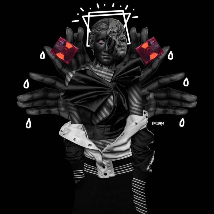 Wrong - collage, blackwhite, minidisc - shushpo | ello