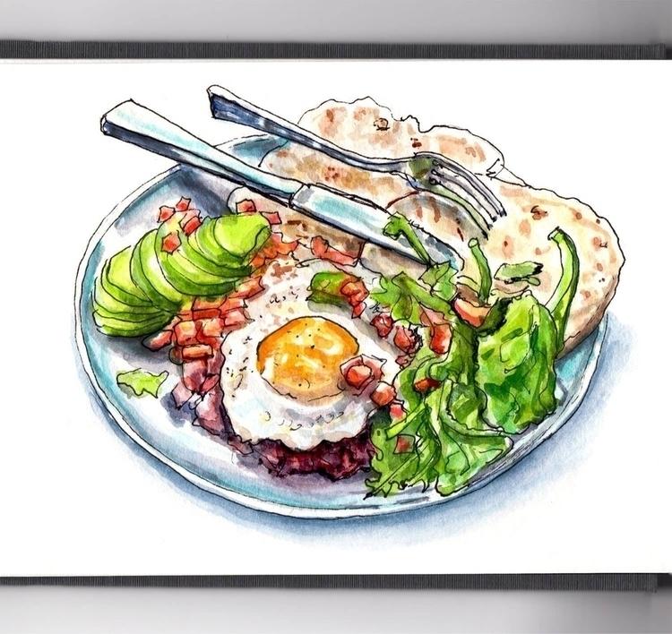 - Dinner - WorldWatercolorMonth - doodlewash | ello