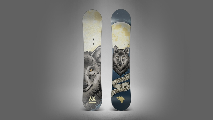 Game Thrones themed snowboard d - medoks | ello