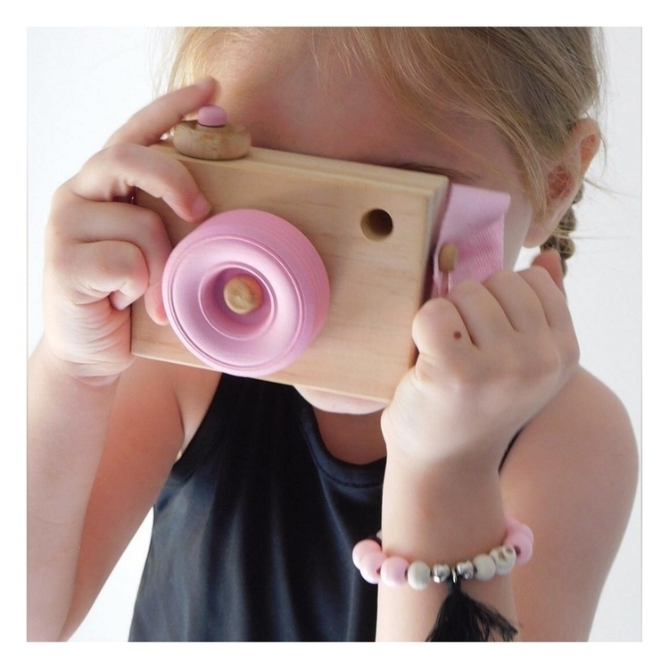 cute Isabella playing pink wood - blossomandbeekids | ello