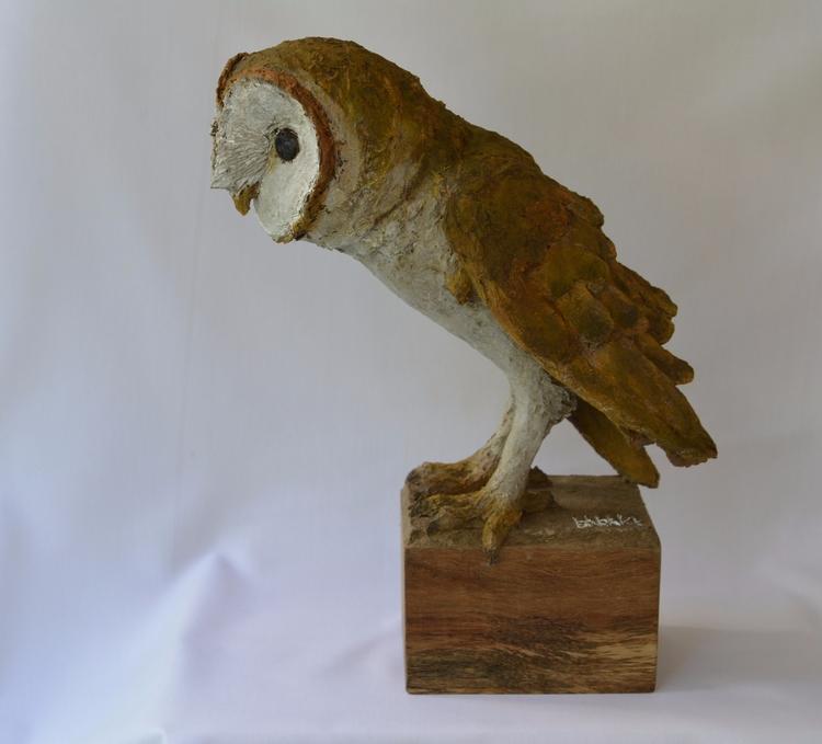 BARN OWL, SOLID RECYCLED CARDBO - barakesculptor | ello