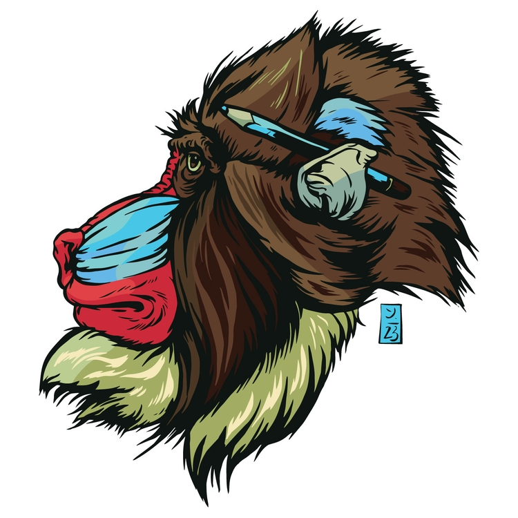 Primate Art Department - illustration - thomcat23   ello