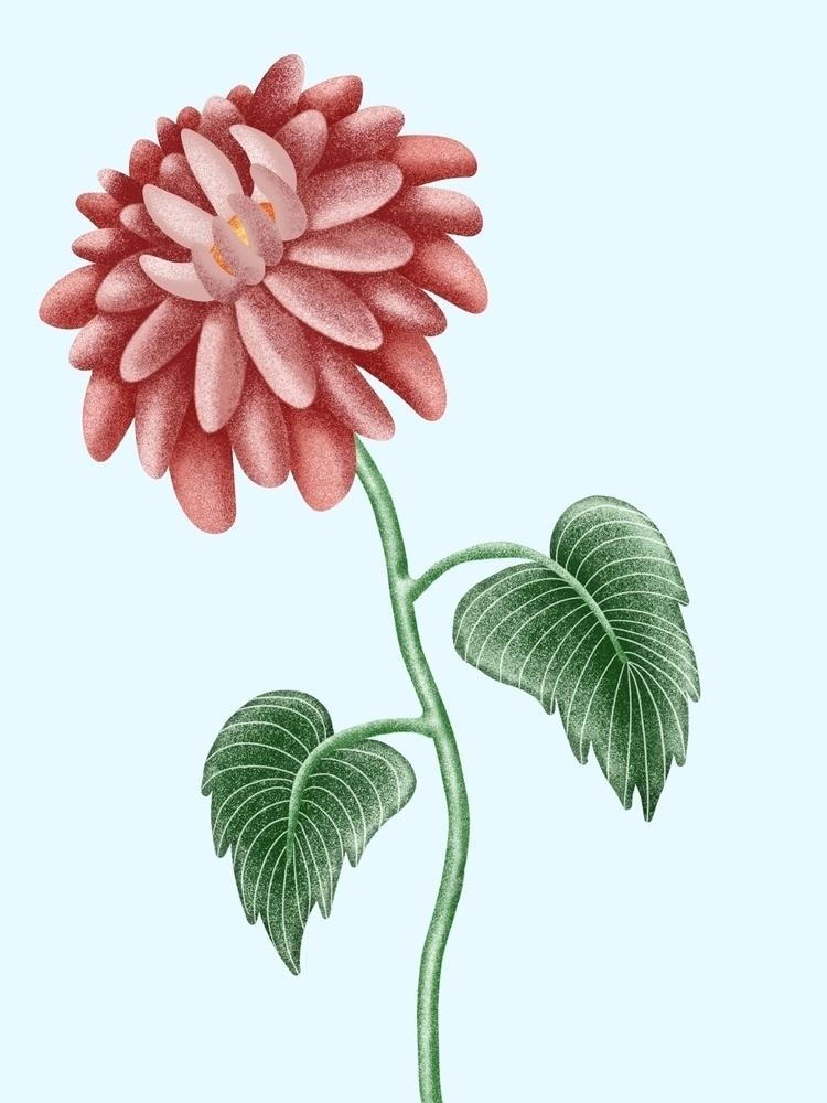 Sunday flower - green, dotsandlines - juulstudio | ello