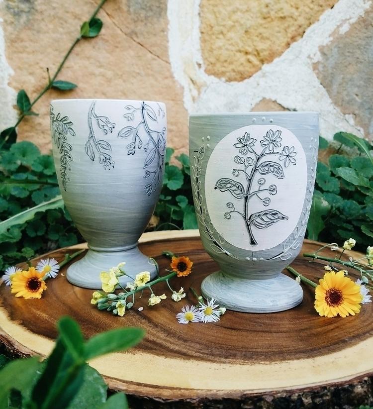 wee bit floral - pottery, clay, ceramics - handtoearthceramics | ello