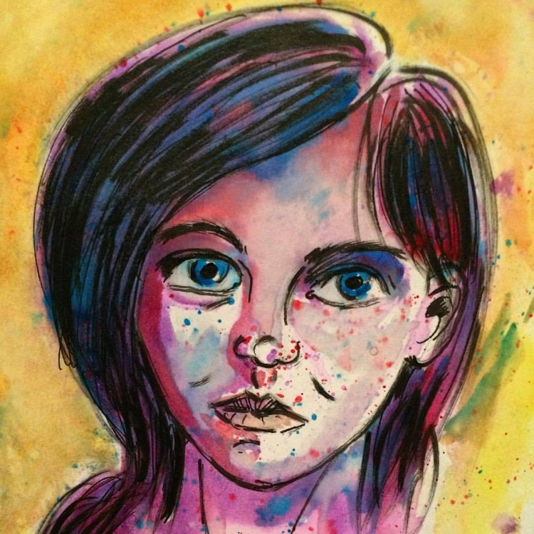 Girl Water color inks - marksolario | ello