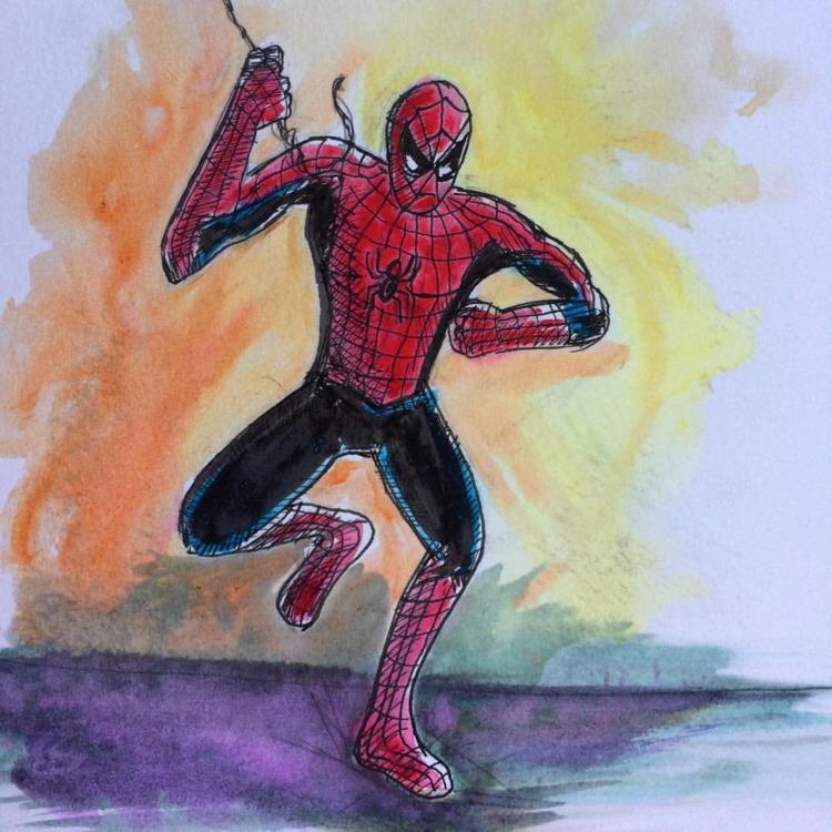 Spider-Man Watercolor Inks - marksolario | ello