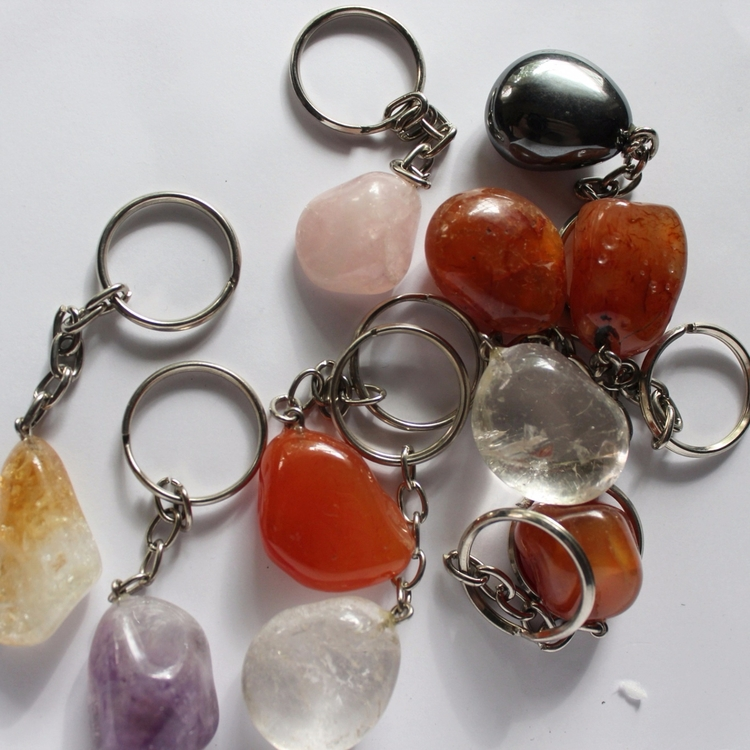 Assorted crystal keyrings - amethyst - thegreenjasper | ello