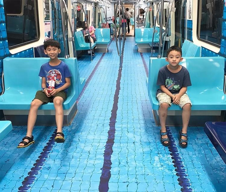 Taipei Transforms Subway Cars M - graphicdesign | ello