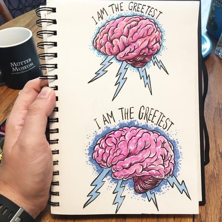 drawing brains raisin - futurama - royallyeric | ello