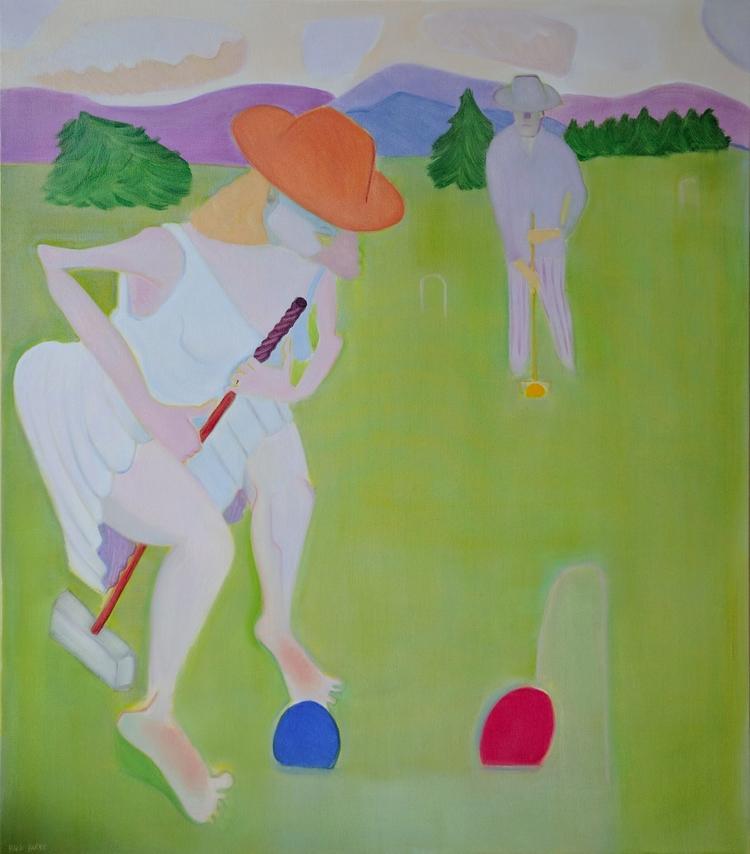 Red Ball Blue oil/canvas, 62x54 - markbarry | ello