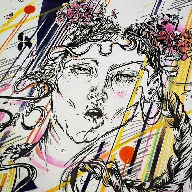 whirlwind - ello, portrait, art - femsorcell   ello