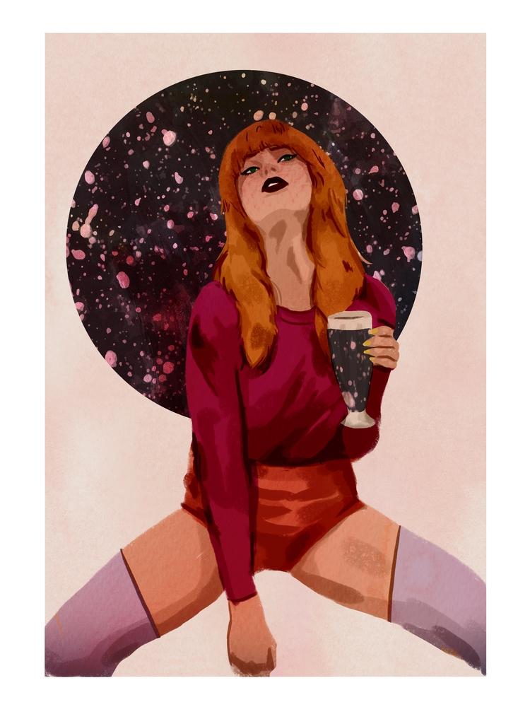Space Lady - spacelady, spaceage - cariguevara | ello