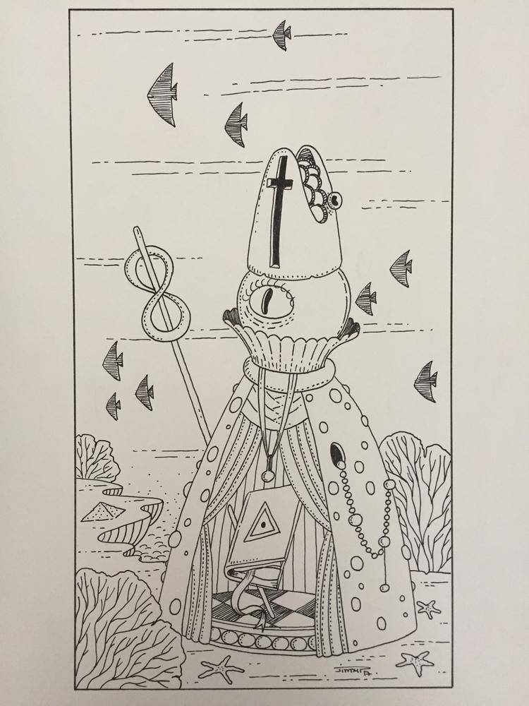 II - la papesse / popess - illustration - jimmy-draws | ello