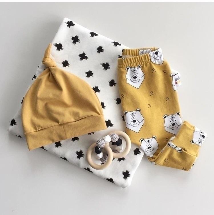 Black, white mustard - unisexbaby - littleboubba | ello