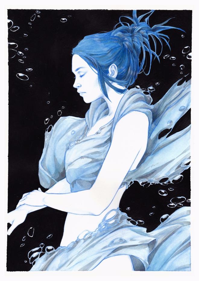 'Blue' Djamila Knopf. 8.3 11.7  - geekynerfherder | ello