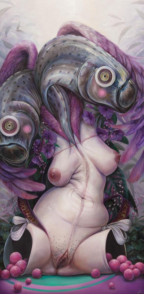 Psyche 24x48 oil canvas 2016 - hannahfyata | ello