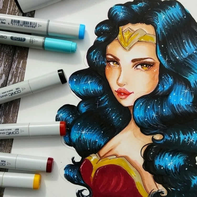 obsessing Lol - wonderwoman, fanart - sleepykoi | ello