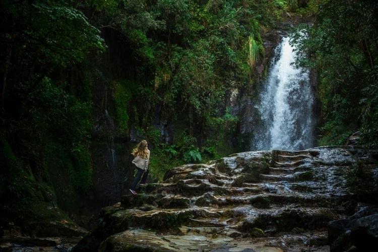 waterfall stairway - jesslowcher | ello