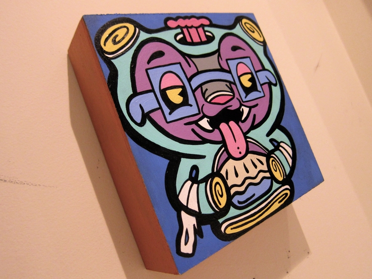 Gus 6 6' acrylic ink wood, part - andydass   ello