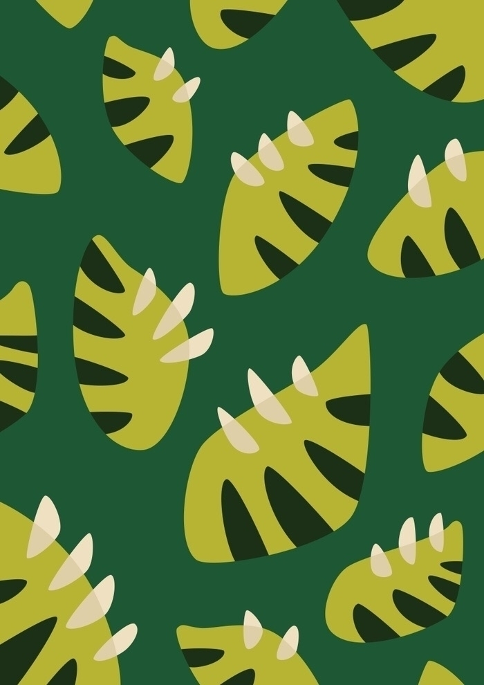 Green leaves claws - illlustration - borianag | ello
