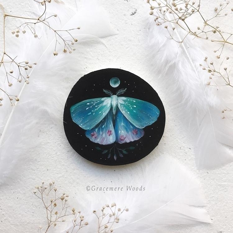 :sparkles:Midnight Garden Moth - gracemerewoods | ello