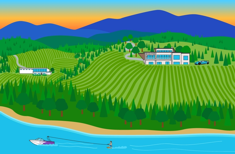 full landscape illo! Featuring  - ashleighgreen | ello