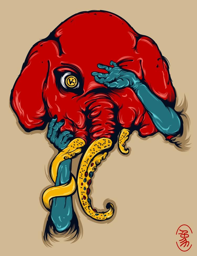 Feint Elephant - DigitalDecadeCyberia - kzengjiang | ello