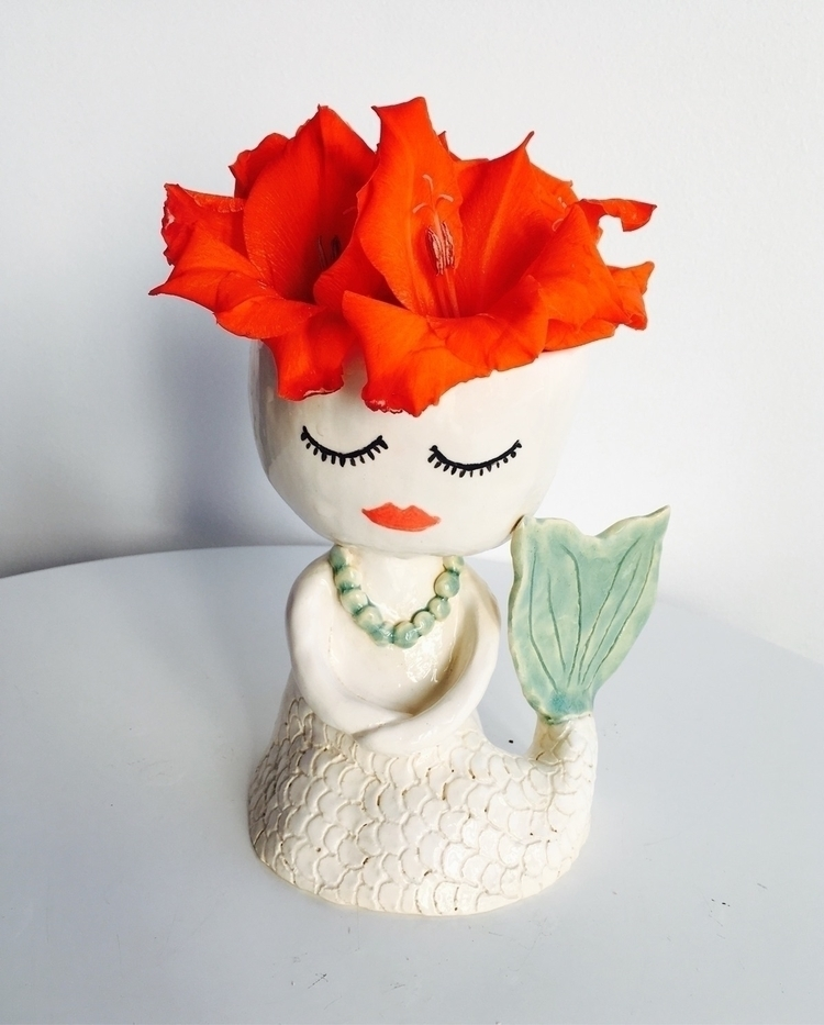 Beautiful mermaid pot - ceramics#pottery#handmade#sculpture#mermaid#etsy - livingdecortwins | ello