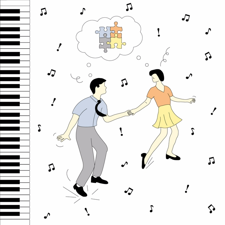 Dancing Bebop  - illustration, graphicdesign - molonom | ello