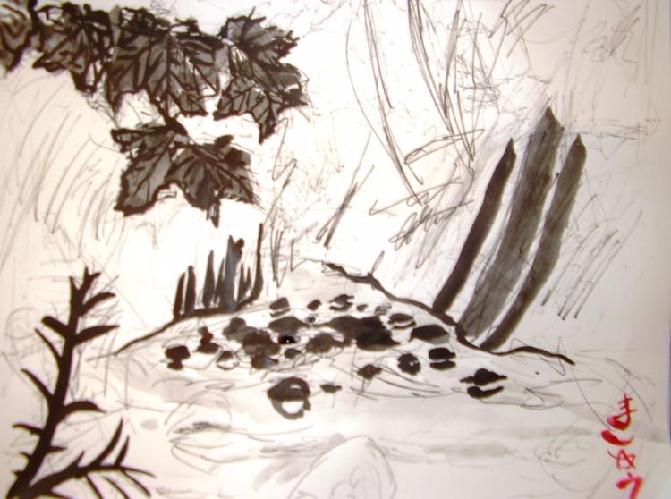 Stony Creek, ink , 11 14, $50,  - clan_morrison_art | ello