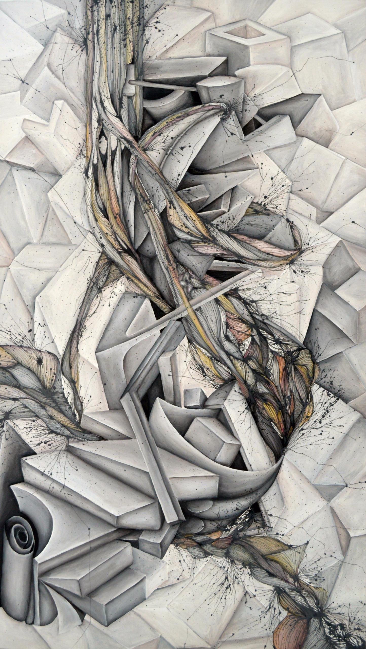 Mineral - 2015   acrylic canvas - anadesena   ello
