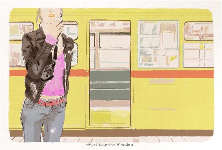 train - illustration, dessin, sketch - zoe_vadim | ello
