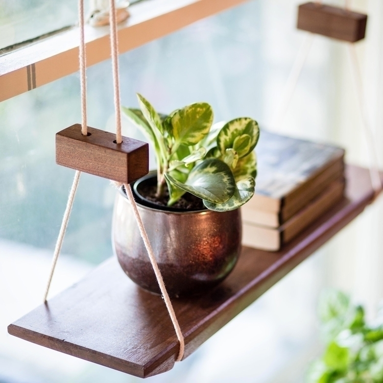 solid walnut hanging shelf grea - a-framedesign | ello