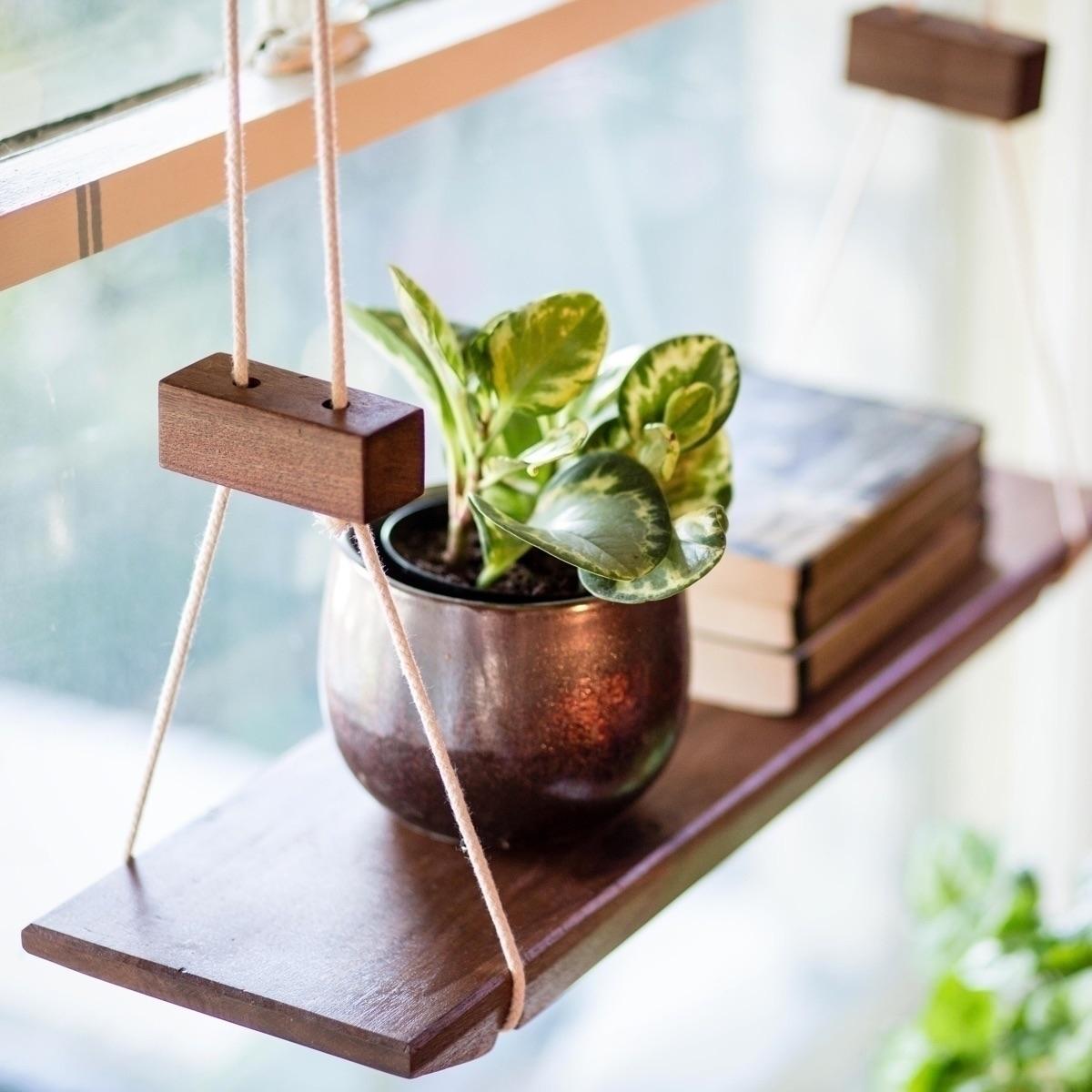 solid walnut hanging shelf grea - a-framedesign   ello