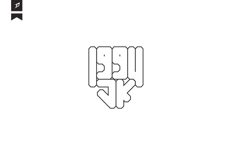 1994JK - 1, 9, 9, 4, logo, typography - fahadpgd | ello
