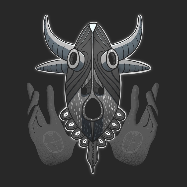 Hooooo - illustration, graphic, mask - mariosupa | ello