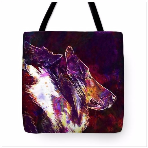 Collie Dog Pet Animal Tote Bag  - pixbreak   ello