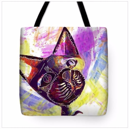 Cat Sculpture Head Ears Tote Ba - pixbreak | ello