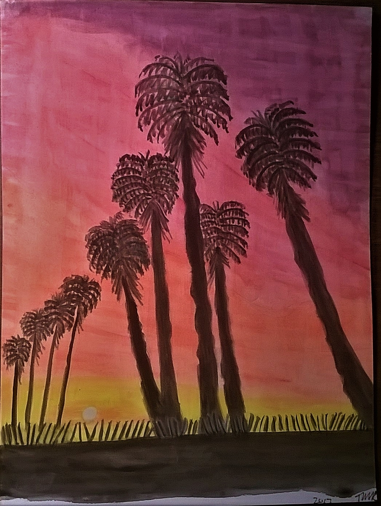 Palm Road - donebyme, art, watercolor - teerivsaid | ello
