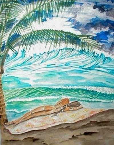 Ocean Dreams - watercolor, ocean - rinamr | ello