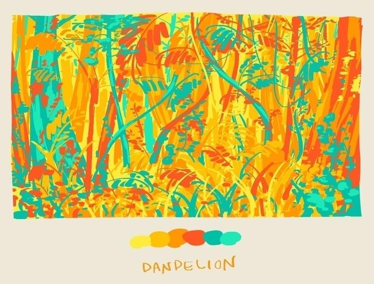 art, illustration, colors, jungle - nhuman   ello