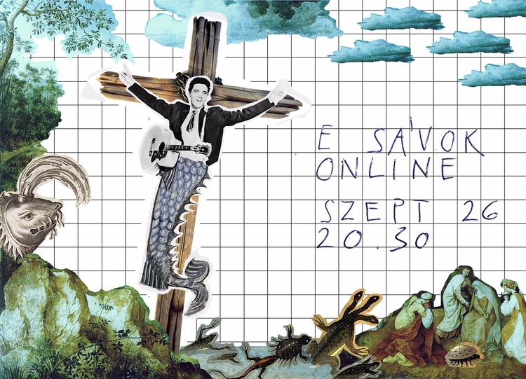 Flyer concert - flyer, collage, graphicdesign - popsick   ello