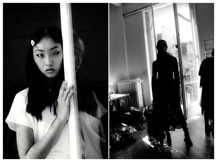 Backstage shots Hyun Mi Nielsen - fashionsnap | ello